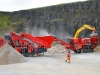 Terex Finlay C-1540 cone crusher and J-1175 jaw crusher. Rock processing demo area, Hillhead.