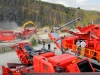 Terex Finlay crushers. Rock processing demo area, Hillhead.