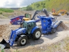 New Holland tractor and Herbst crusher. Recycling demo area, Hillhead.