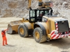 CAT wheel loader. Hillhead quarry face demo area