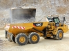 CAT articulated truck. Hillhead quarry face demo area