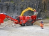 Terex Finlay J-1175 jaw crusher. Rock processing demo area, Hillhead.
