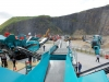 Powerscreen crushers. Rock processing demo area, Hillhead.