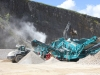 Powerscreen screening machine in the rock processing demo area at Hillhead Quarrying & Recycling Show