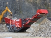 Terex jaw crusher in the rock processing demo area at Hillhead Quarrying & Recycling Show