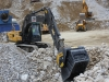 Volvo excavator with MB bucket crusher