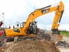 JCB excavator at Hillhead recycling demo area