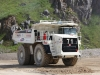 Terex off-highway mining truck in the rock process demo area at Hillhead Quarrying & Recycling Show