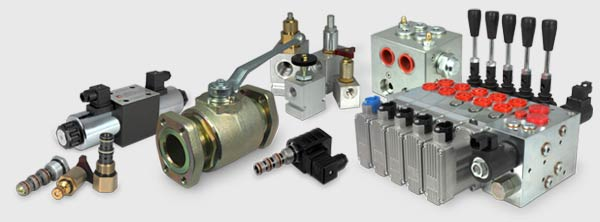 A selection of our hydraulic cartridge valves, inline and modular valves