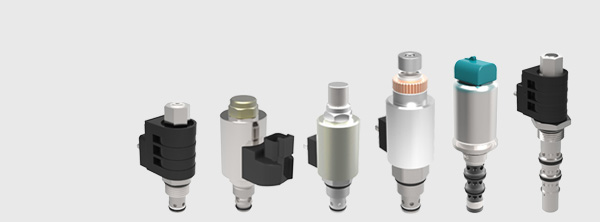 Electronically operated hydraulic proportional valves