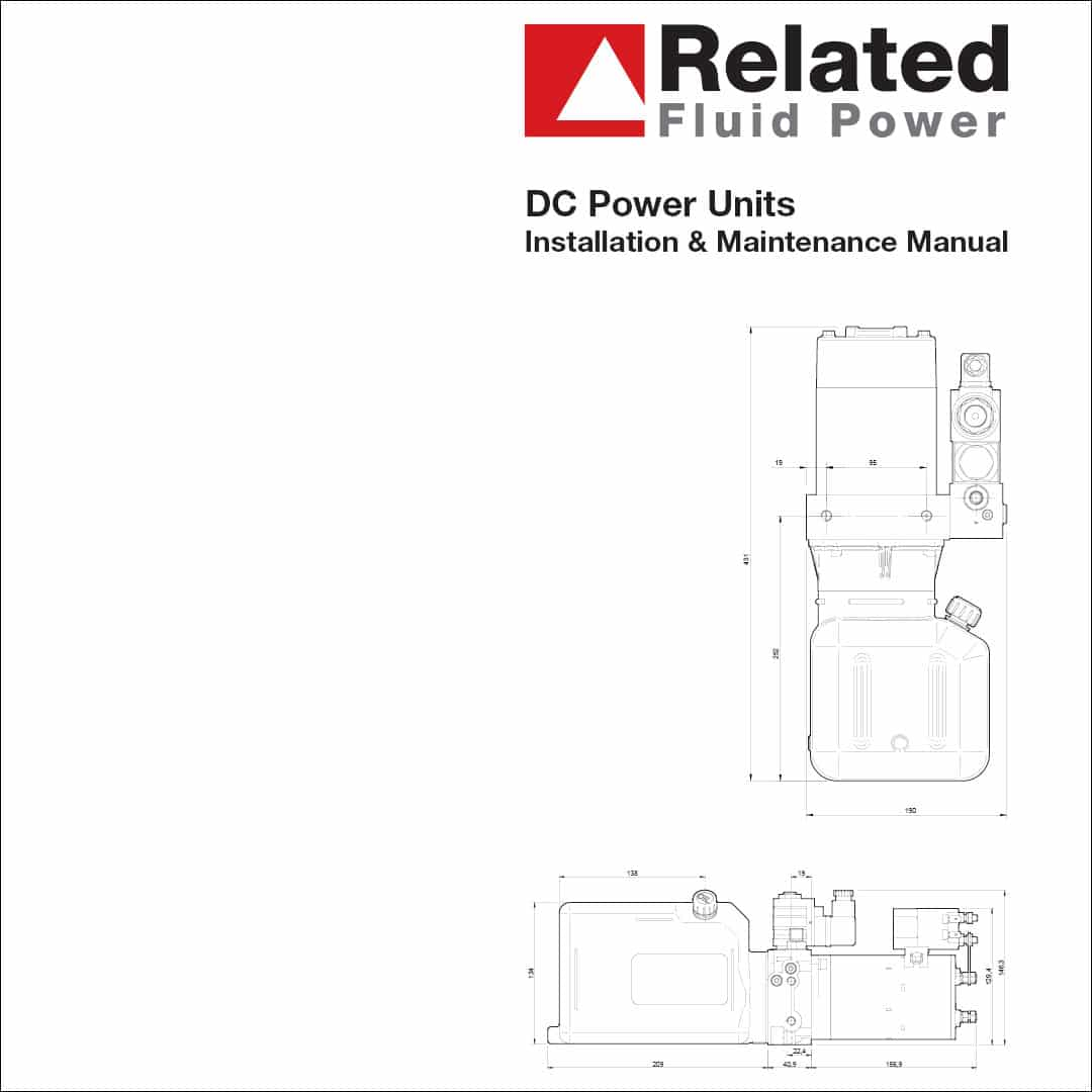 Installation & maintenance manual for DC hydraulic power packs.