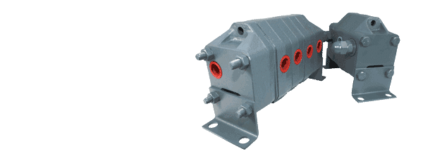 Hydraulic geared flow dividers