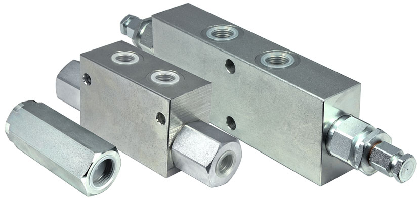 Inline cartridge valves
