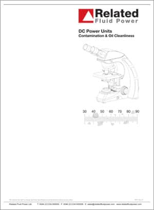DC Power Units - Contamination & Oil Cleanliness