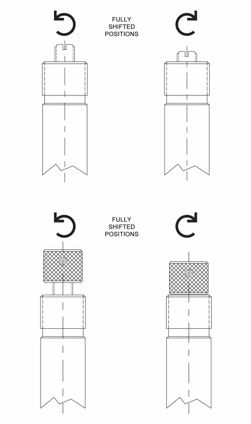 Screw type manual override diagram