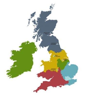DCA regional sales map
