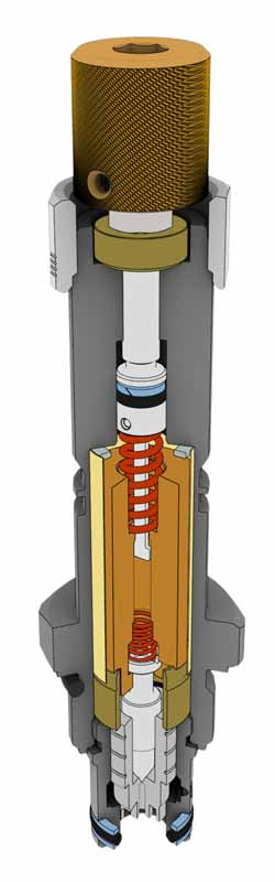 Cutaway of a hydraulic cartridge valve
