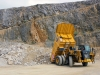CAT off-highway truck. Hillhead quarry face demo area 2
