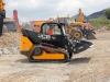 JCB tracked compact loader. Hillhead exhibition recycling demo area