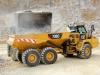 CAT articulated truck. Hillhead quarry face demo area