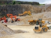 Cat, Doosan and Liebherr equipment at work. Hillhead quarry face demo area.