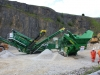 McCloskey screener and crusher in the rock processing demo area at Hillhead Quarrying & Recycling Show