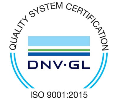 Quality system certification ISO 9001:2015