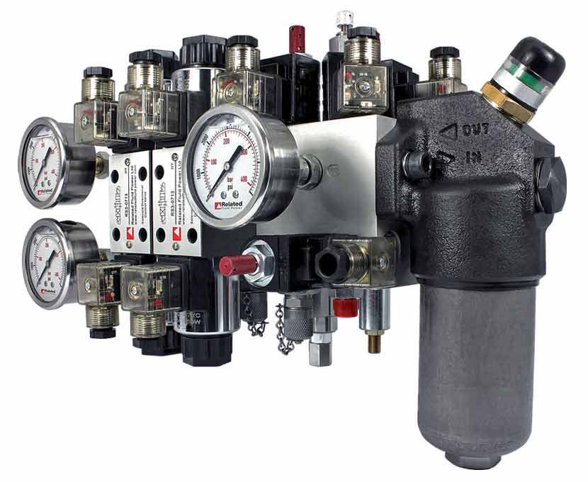Custom hydraulic manifold system