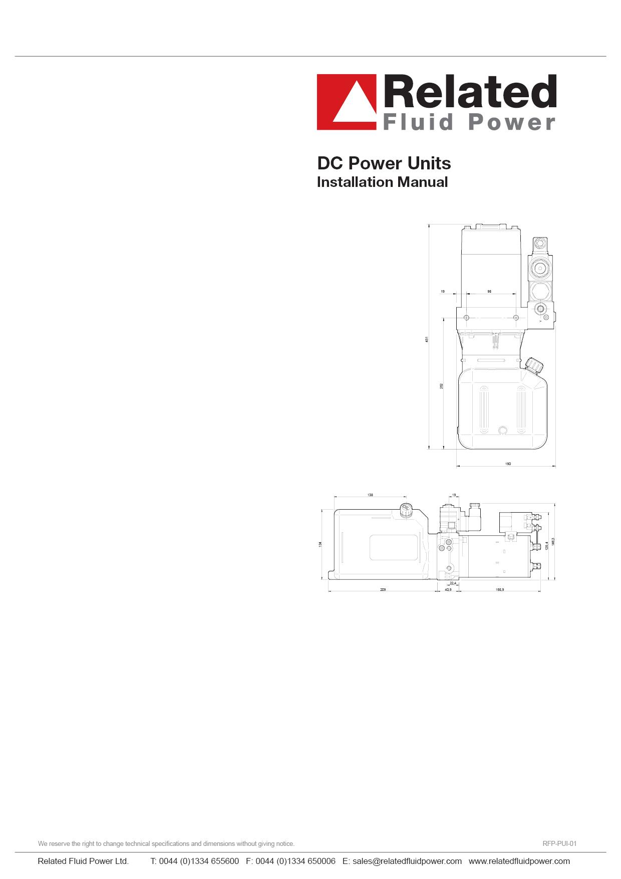 DC Power Units - Installation & Maintenance Manual