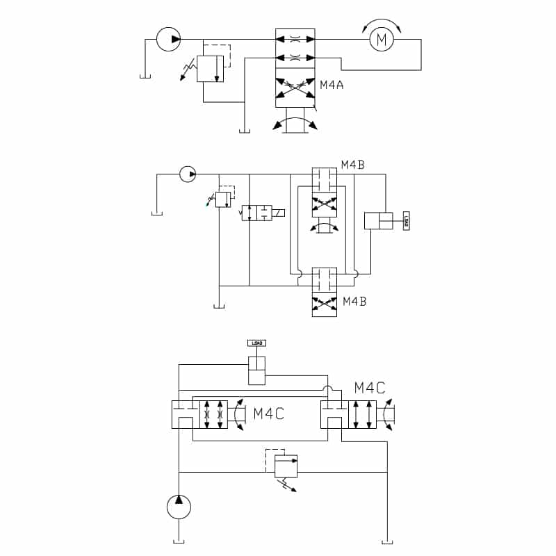 4 Way 2 Position Manual Valve