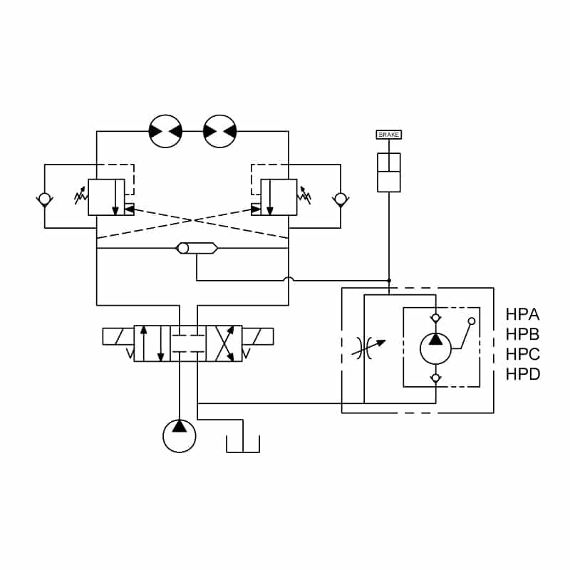 Hand pump valve circuit