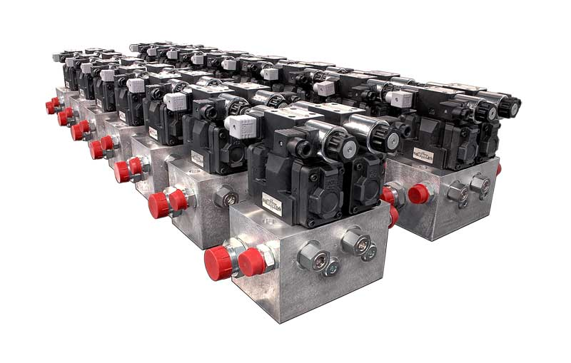Manifolds with Cetop valves