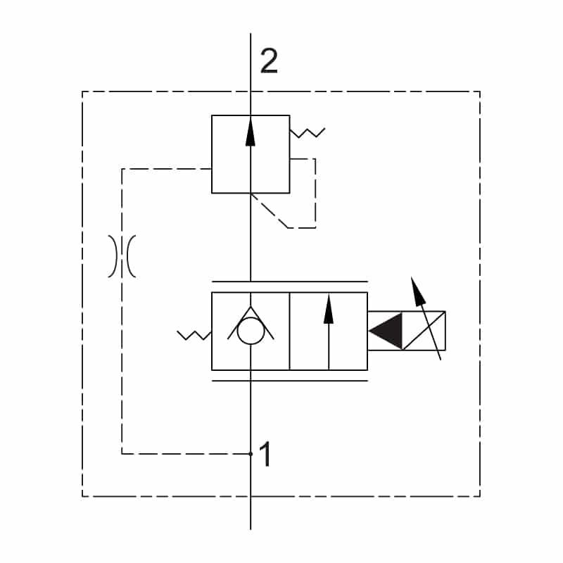 Proportional 2 Way Compensated Valve circuit