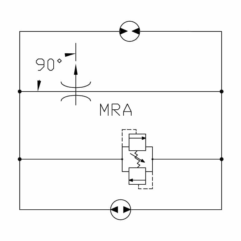 Rotary valve circuit