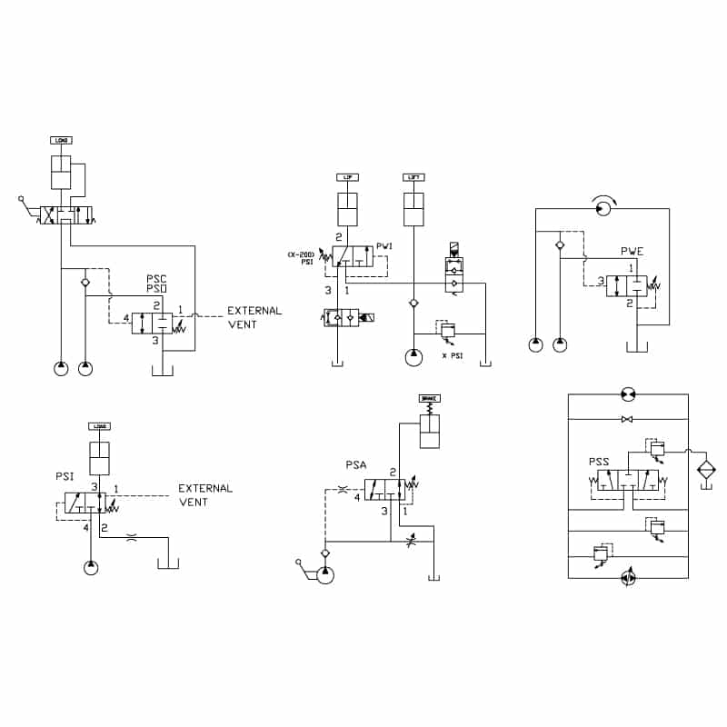 Sequence valve circuit